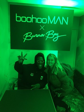 Burna Boy and maybe wife