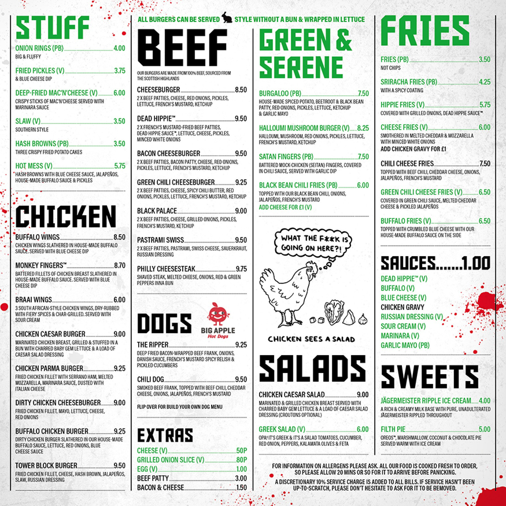 MEATliquor menu